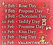 Valetines Day Week List Image