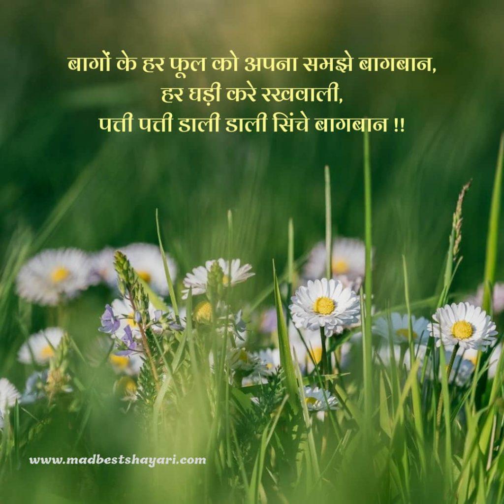 बागबानी शायरी हिंदी में